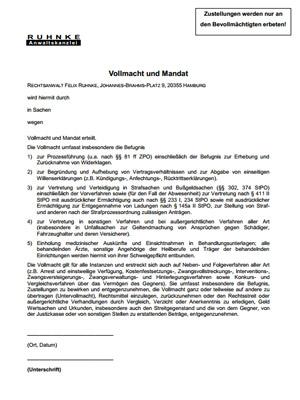 Formulare Zum Download Ruhnke Anwaltskanzlei